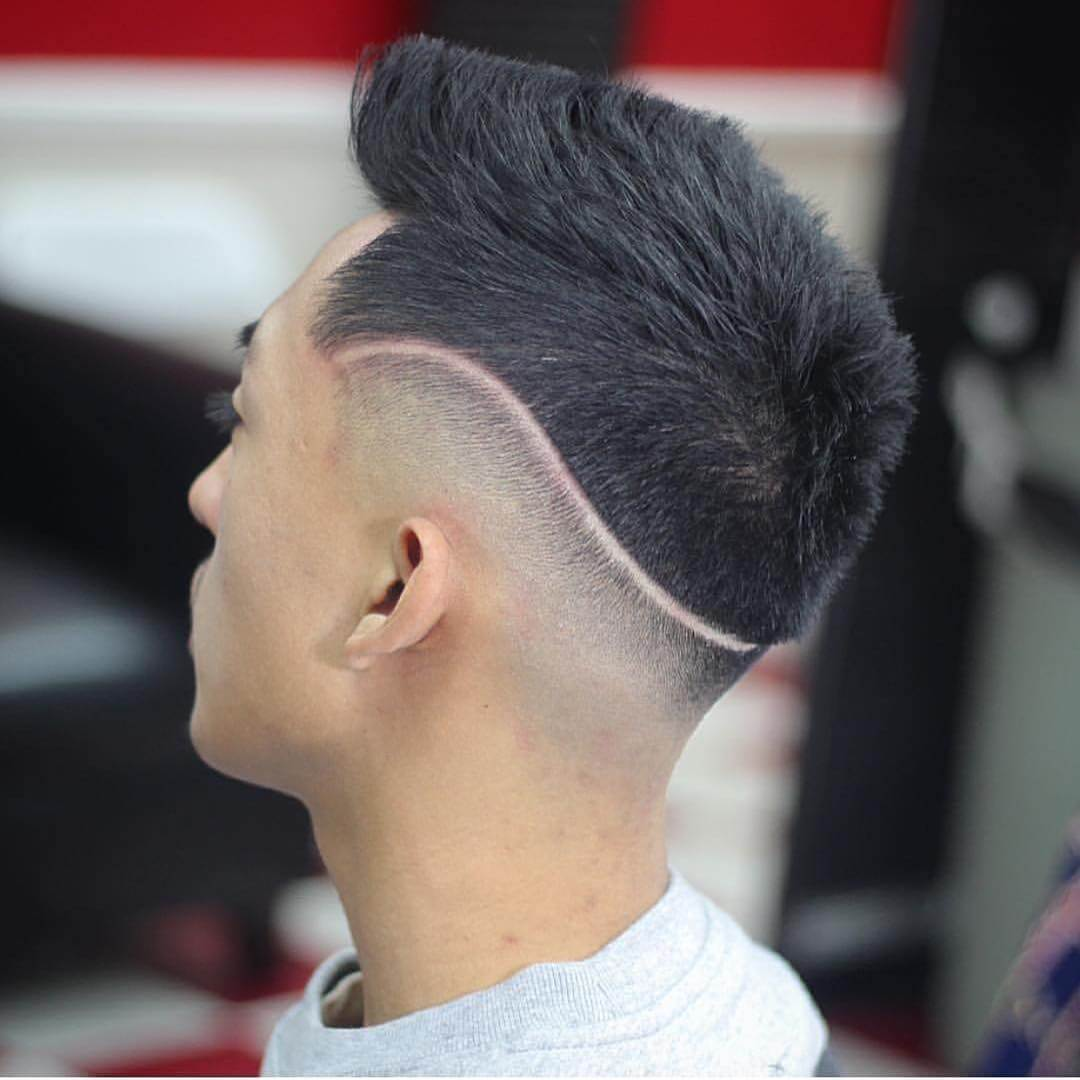 Wave Shaped Faded Haircut Idea For Boys
