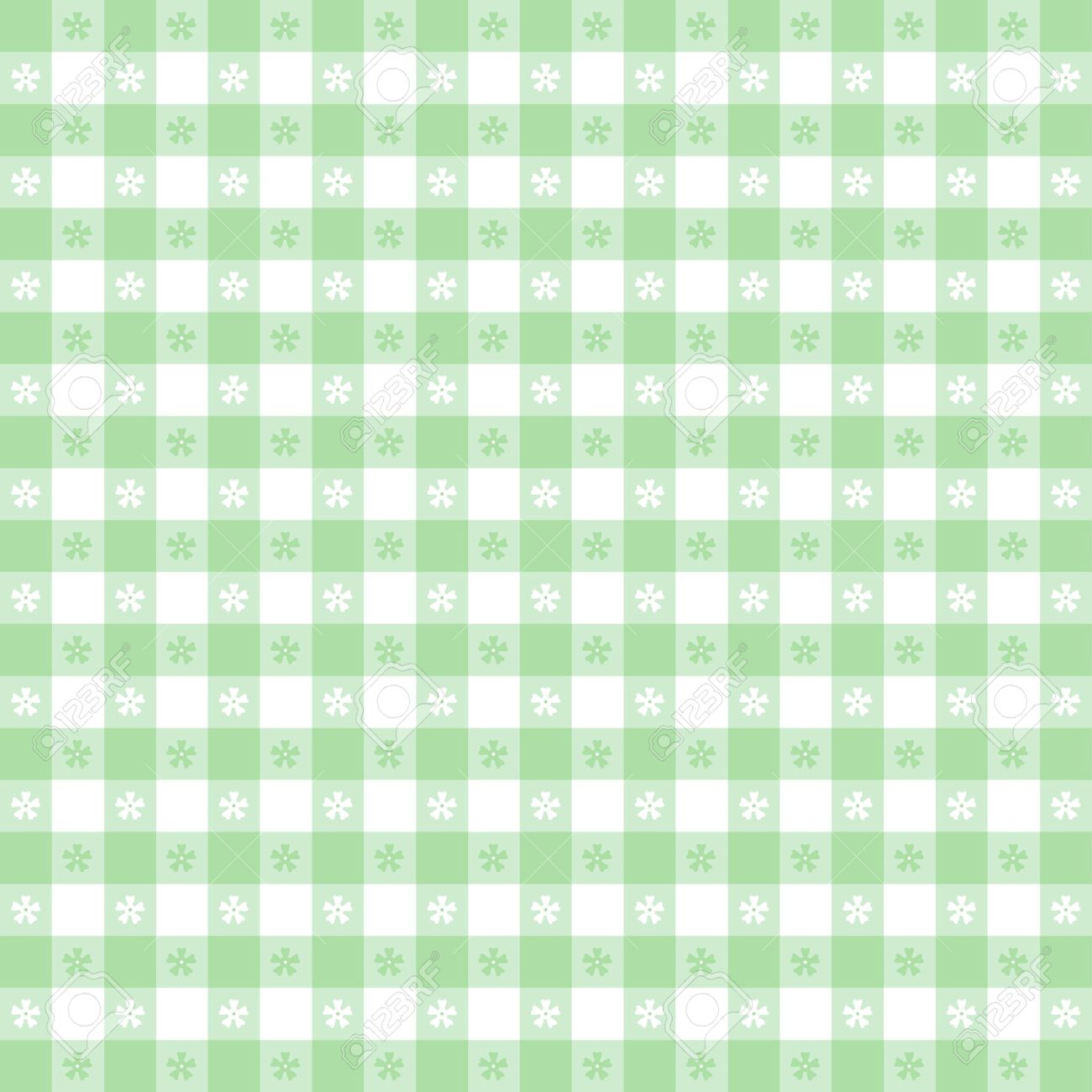 Pastel Green Grid Pattern