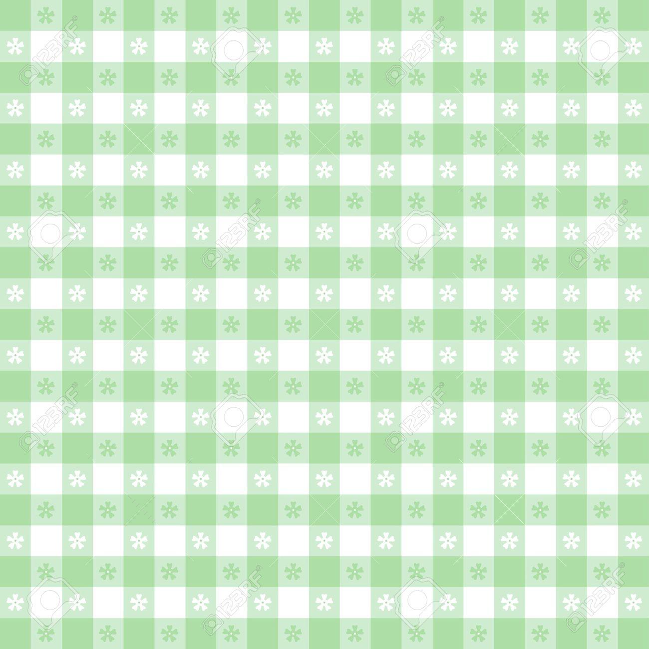 pastel green grid pattern
