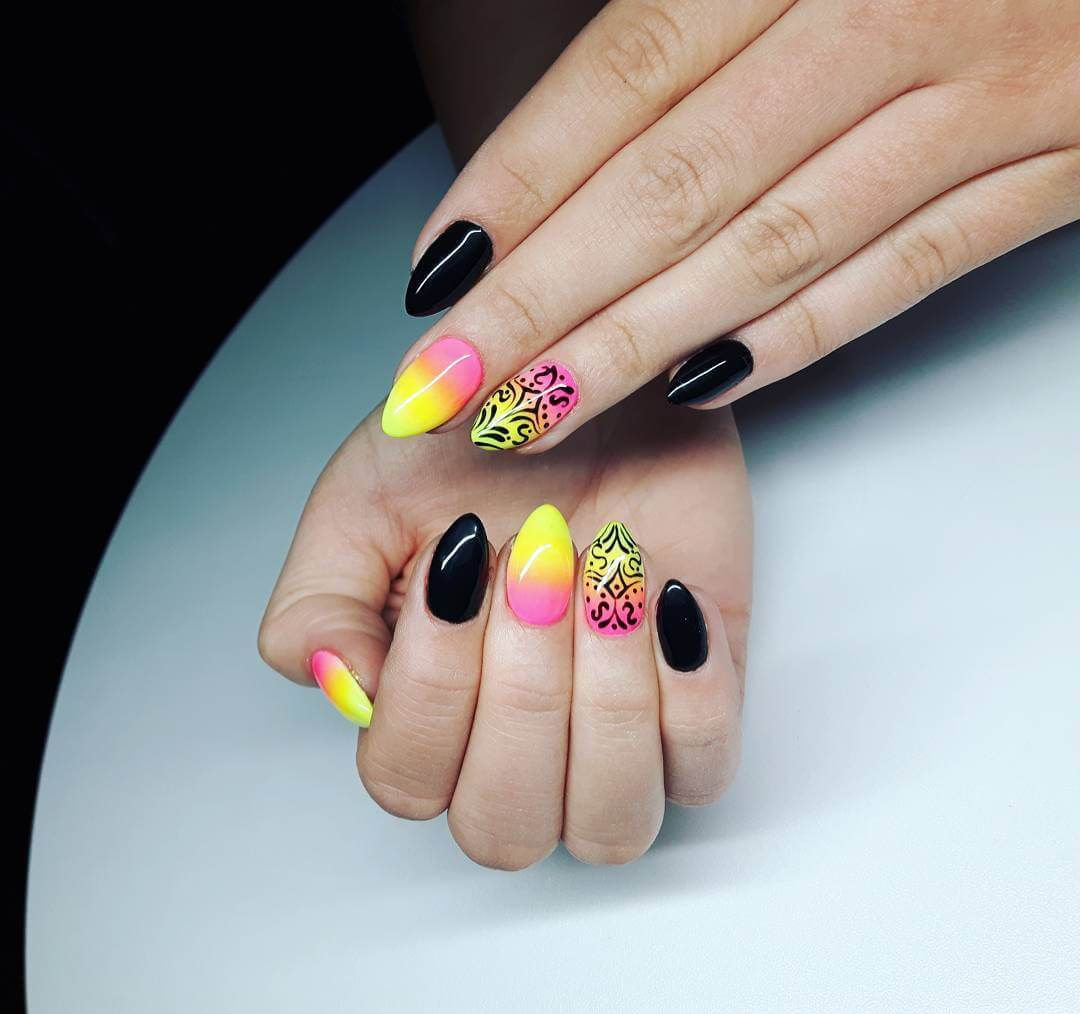 Colorful Summer Nail Art Design