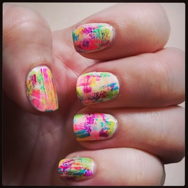 Colorful Graffiti Nail Art
