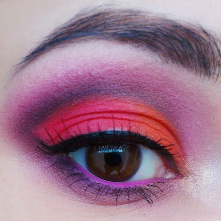 Multi Color Eye Makeup