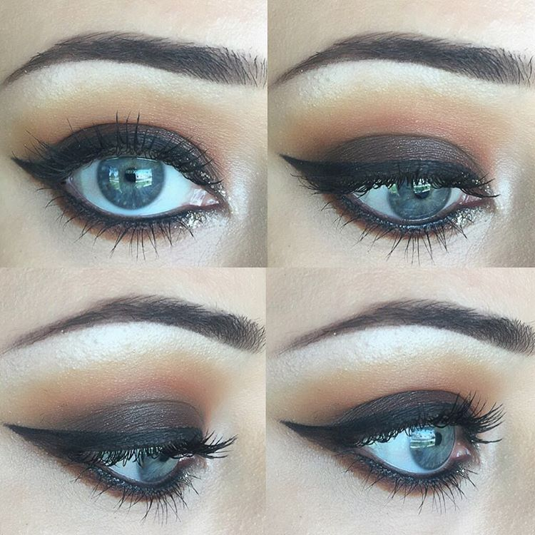 creative eye makeup for big eyes