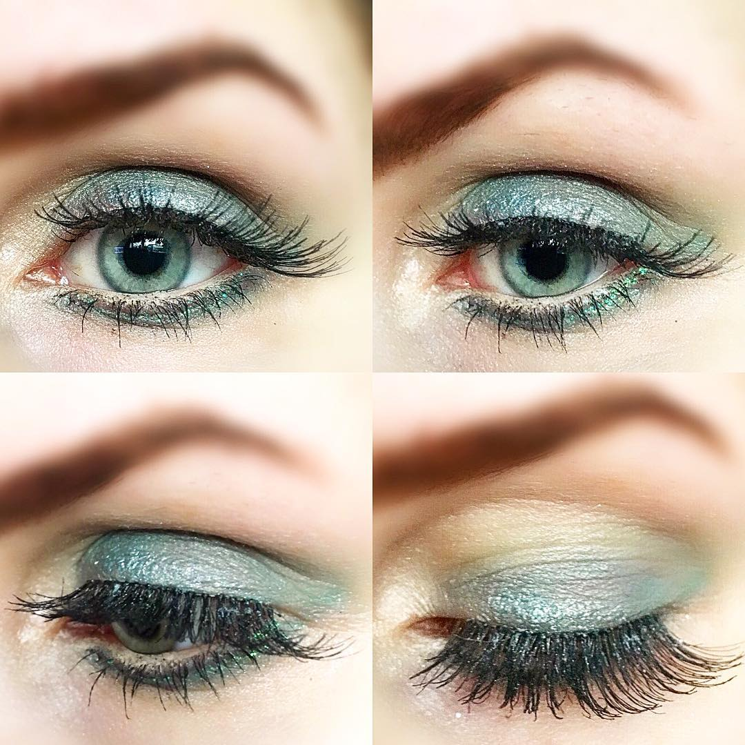 attractive blue eye makeup