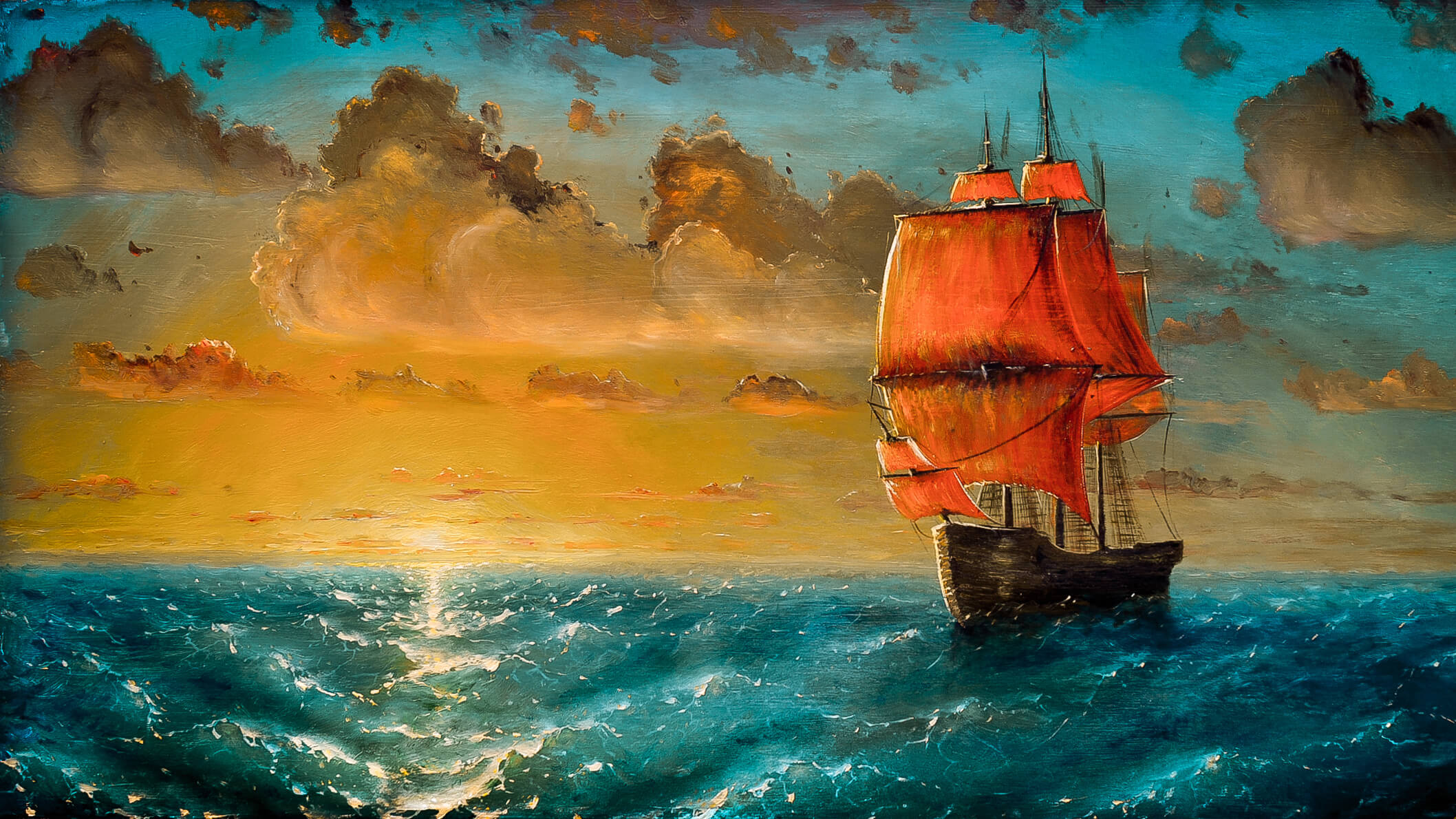Beautiful Hd Ship Art Painting