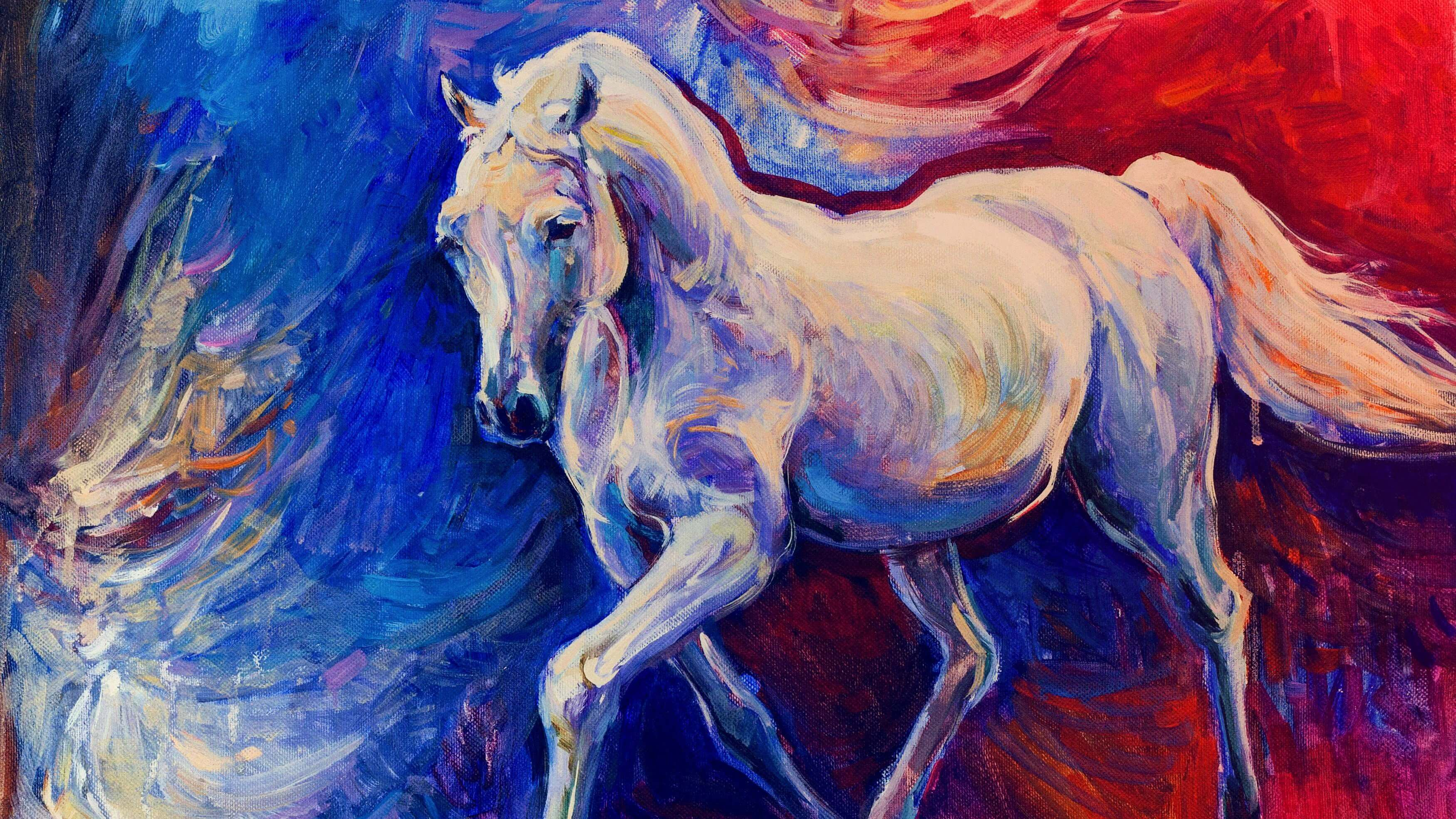 Horse Art Painting Wallpaper