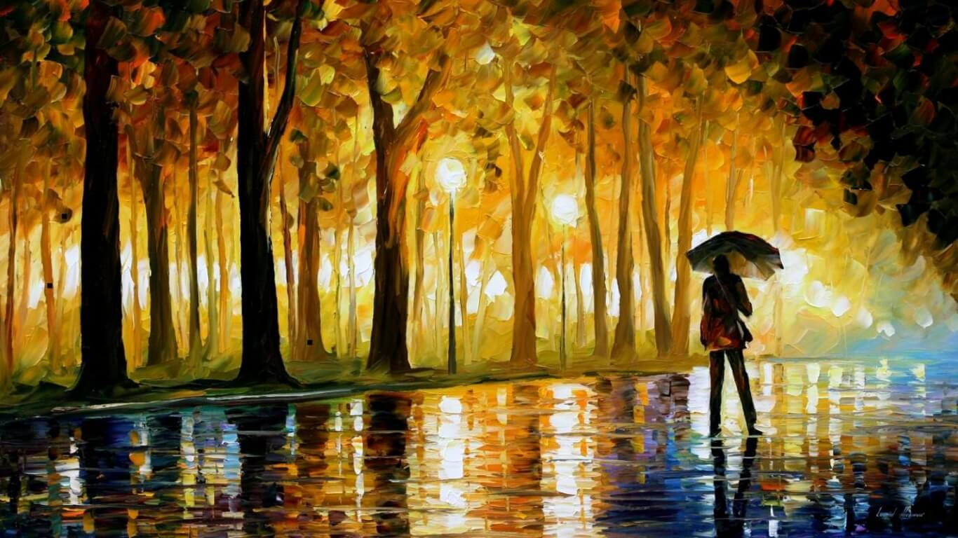 Rainy Day Art Painting Image