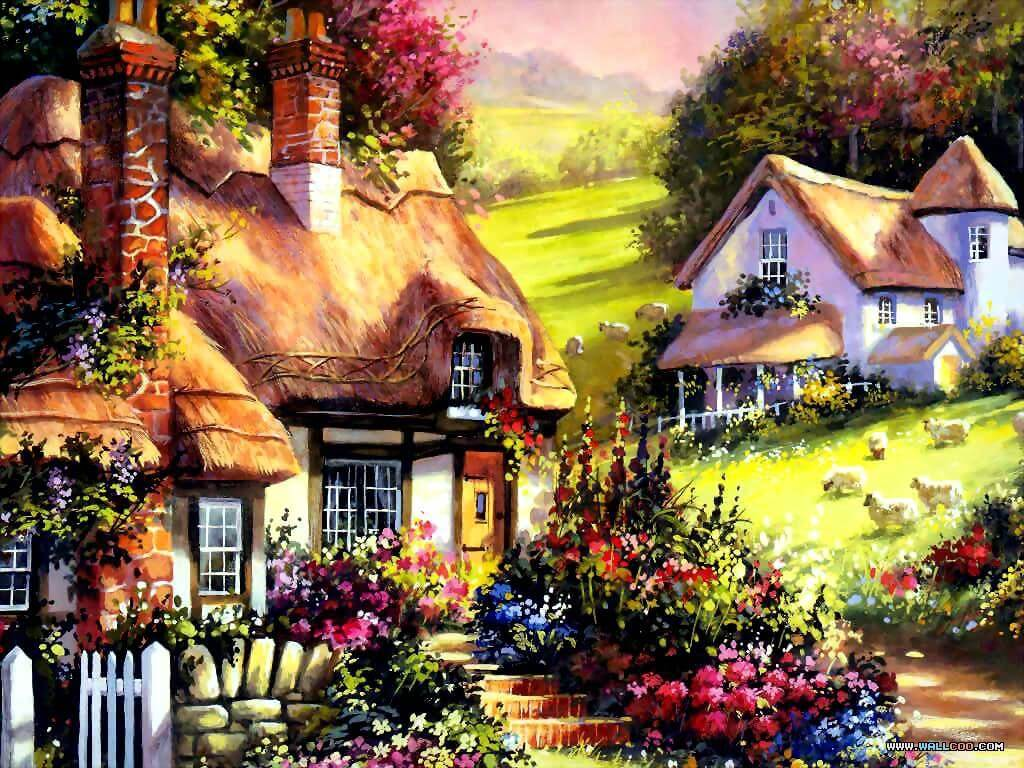 Home Art Wallpaper Painting