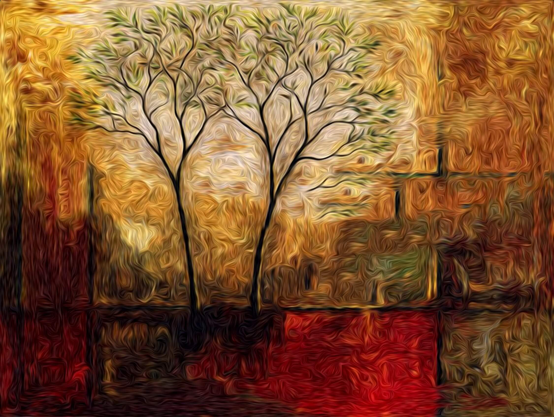Creative Tree Painting Art Background