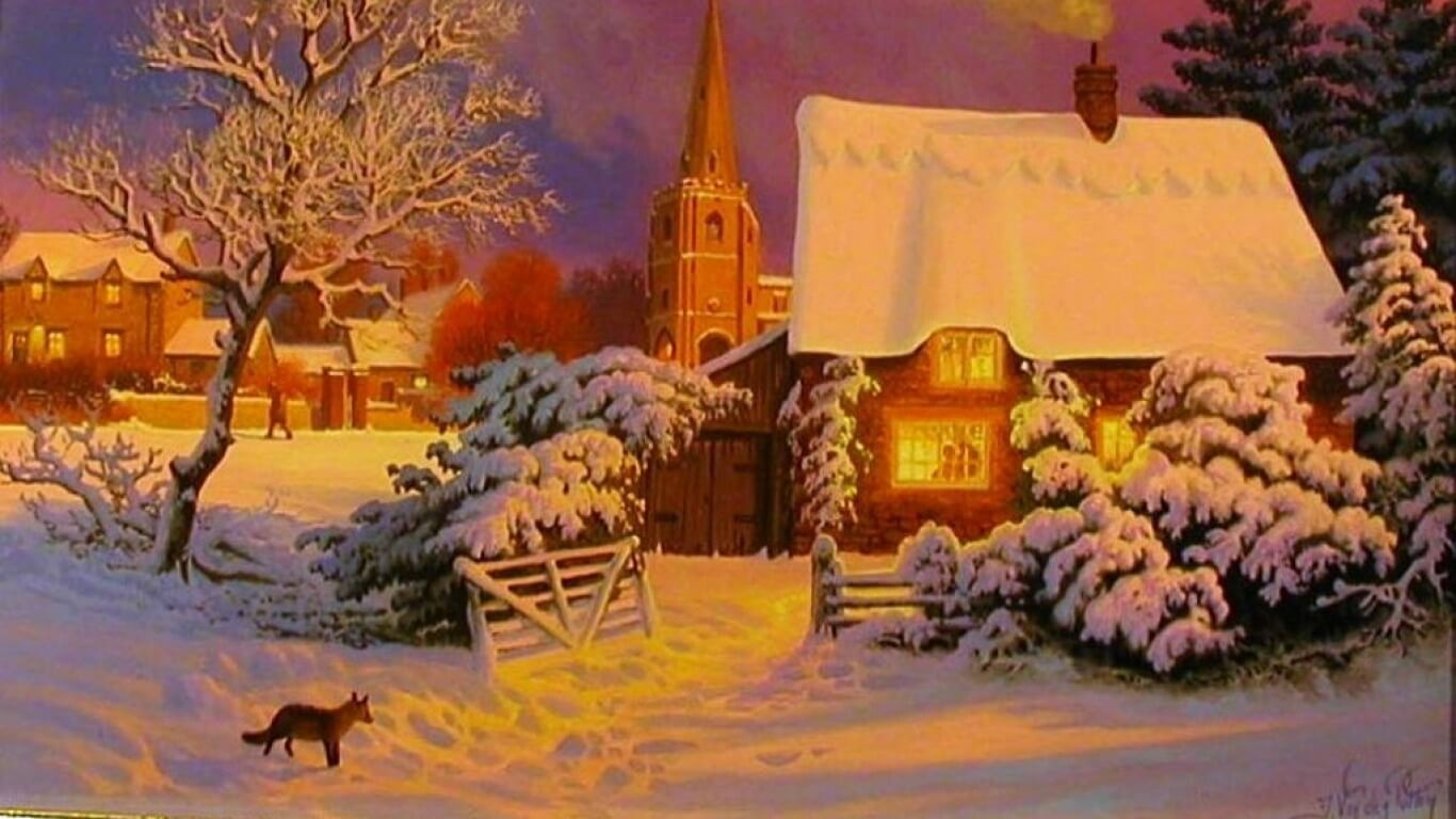 Snow Painting Wallpaper
