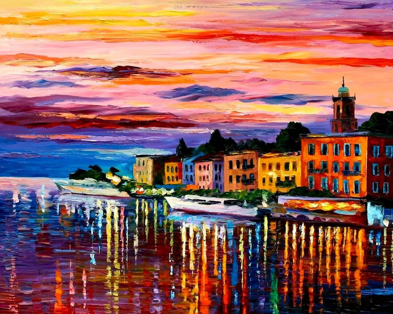 Colourful Place Painting Background