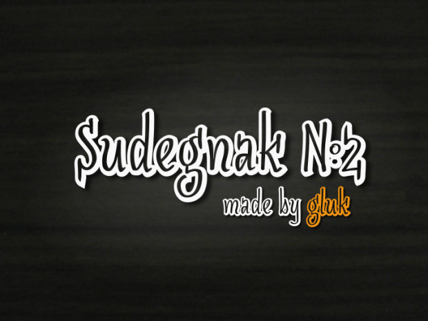 Sudegnak font for 3d effects