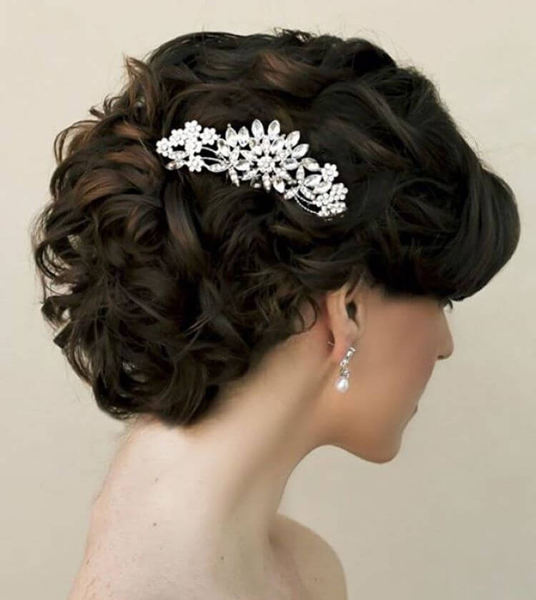 Perfect Curly Wedding Hairstyle