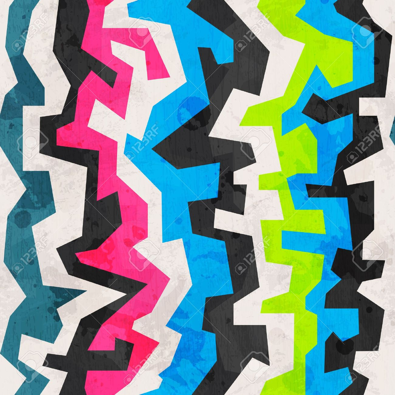 Geometric Grunge Pattern