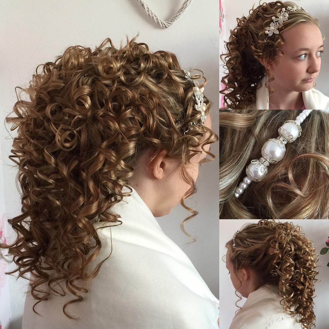 Elegant Curly Bridal Hairstyle Idea