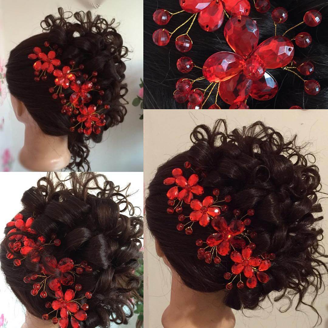 Curly wedding Hairstyle Looks So Lavish