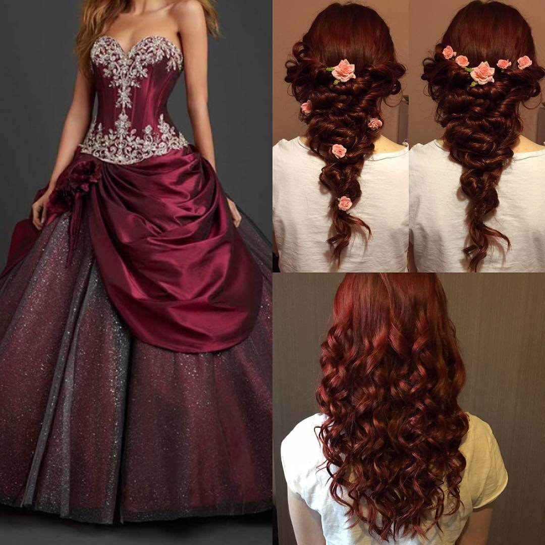 Modern Curly Wedding Hairstyle
