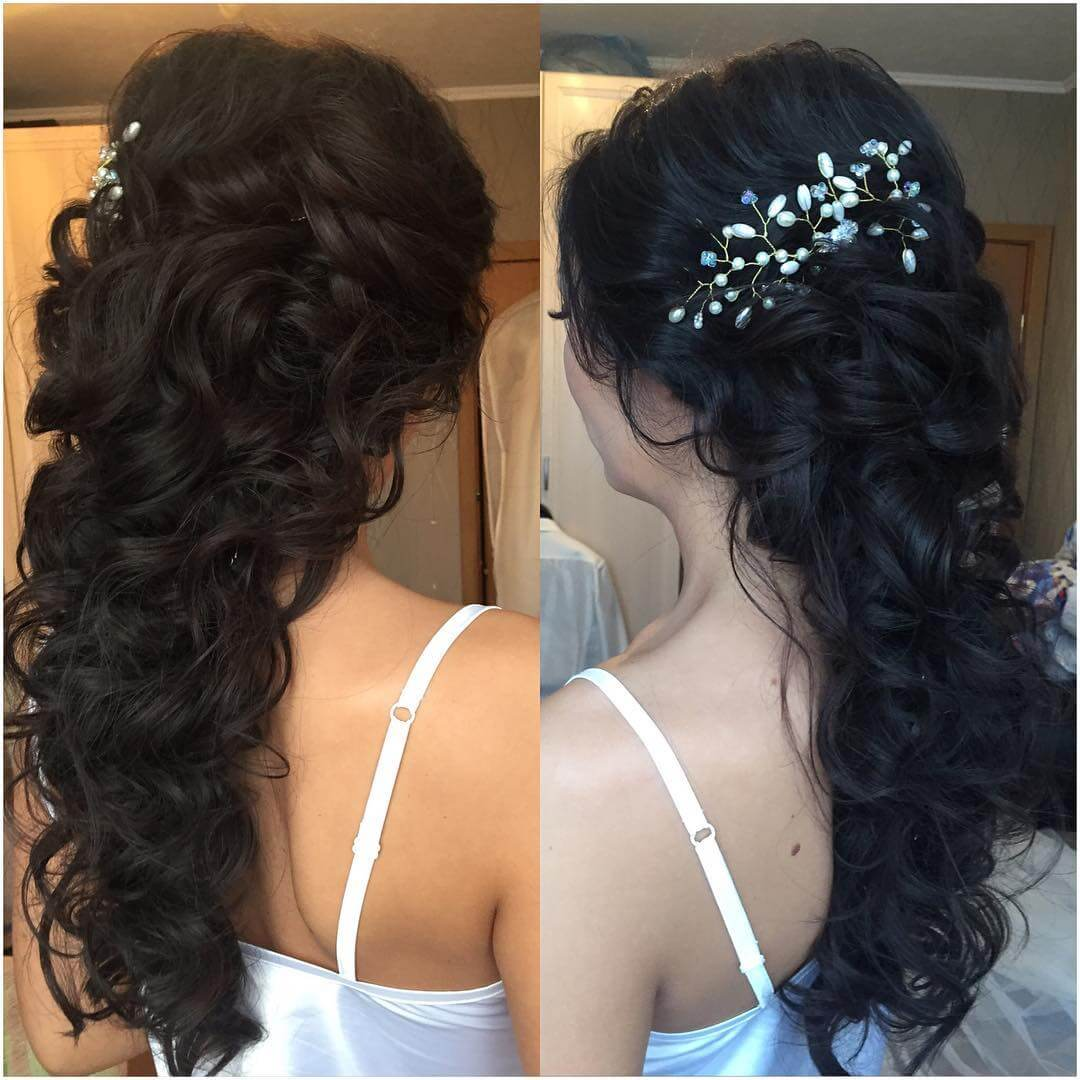 Remarkable Curly Bridal Hairstyle