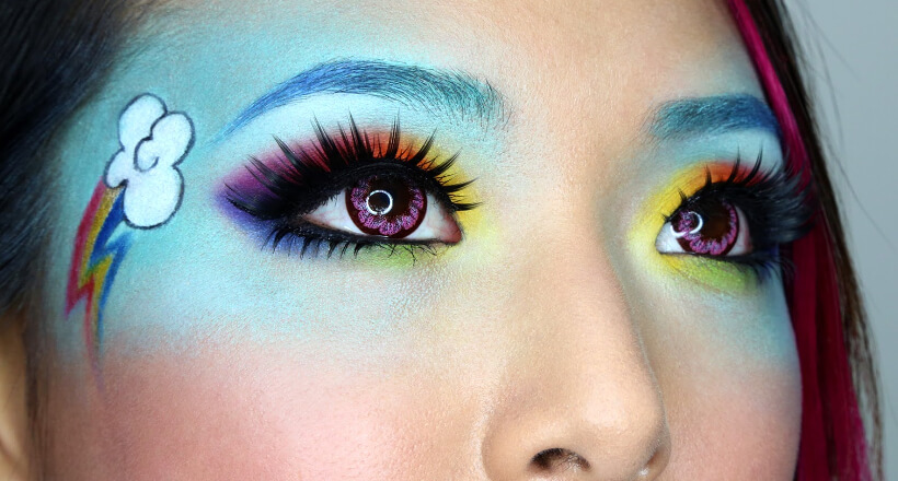 26+ Rainbow Eye Makeup Designs, Trends, Ideas