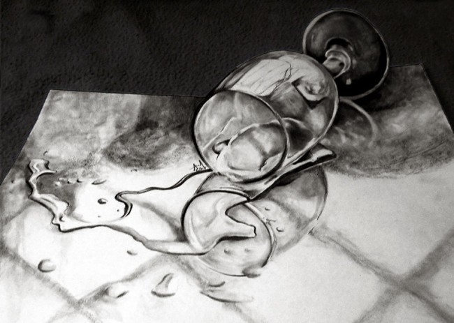 Water spliting 3d drawing