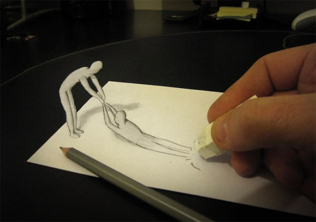 3d pencil sketches helping hands