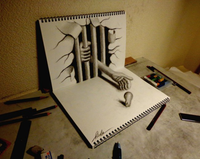 3d drawing beckoning to the evil