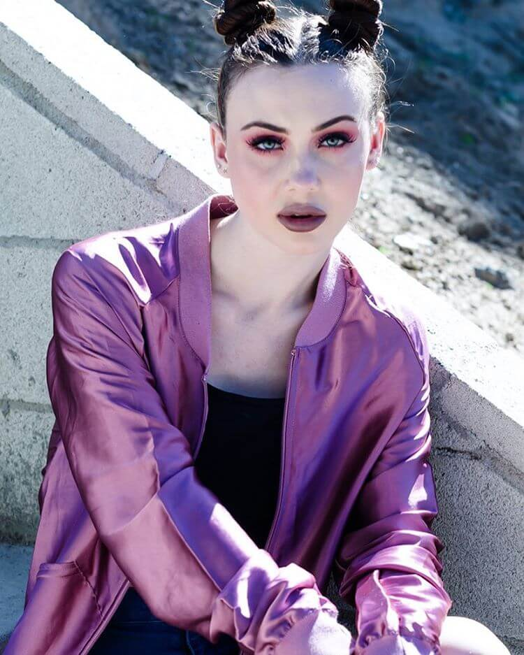 Stylish Model With Red Makeup Of Eye