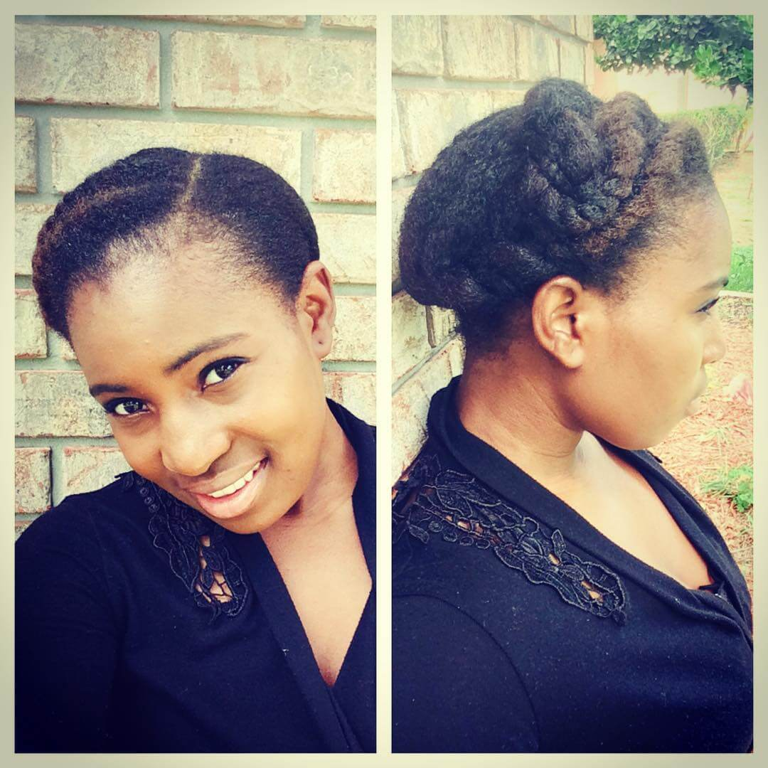 Cute and Quick Natural Hairstyle (2)
