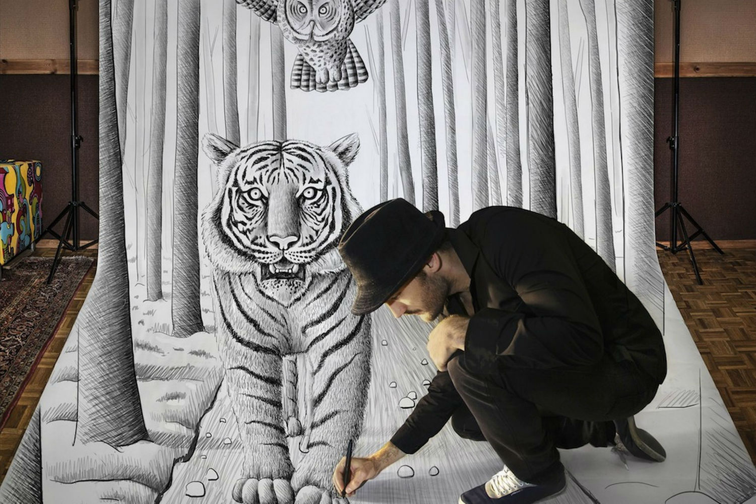 Tiger comes alive in 3d