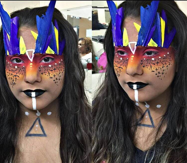 Tribal Warrior Princess Different Makeup Idea