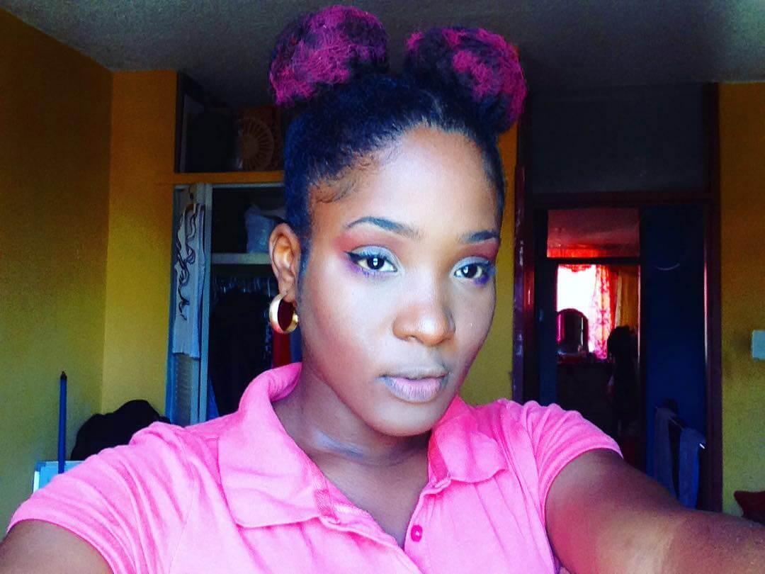 pink shine natural hairstyle 1