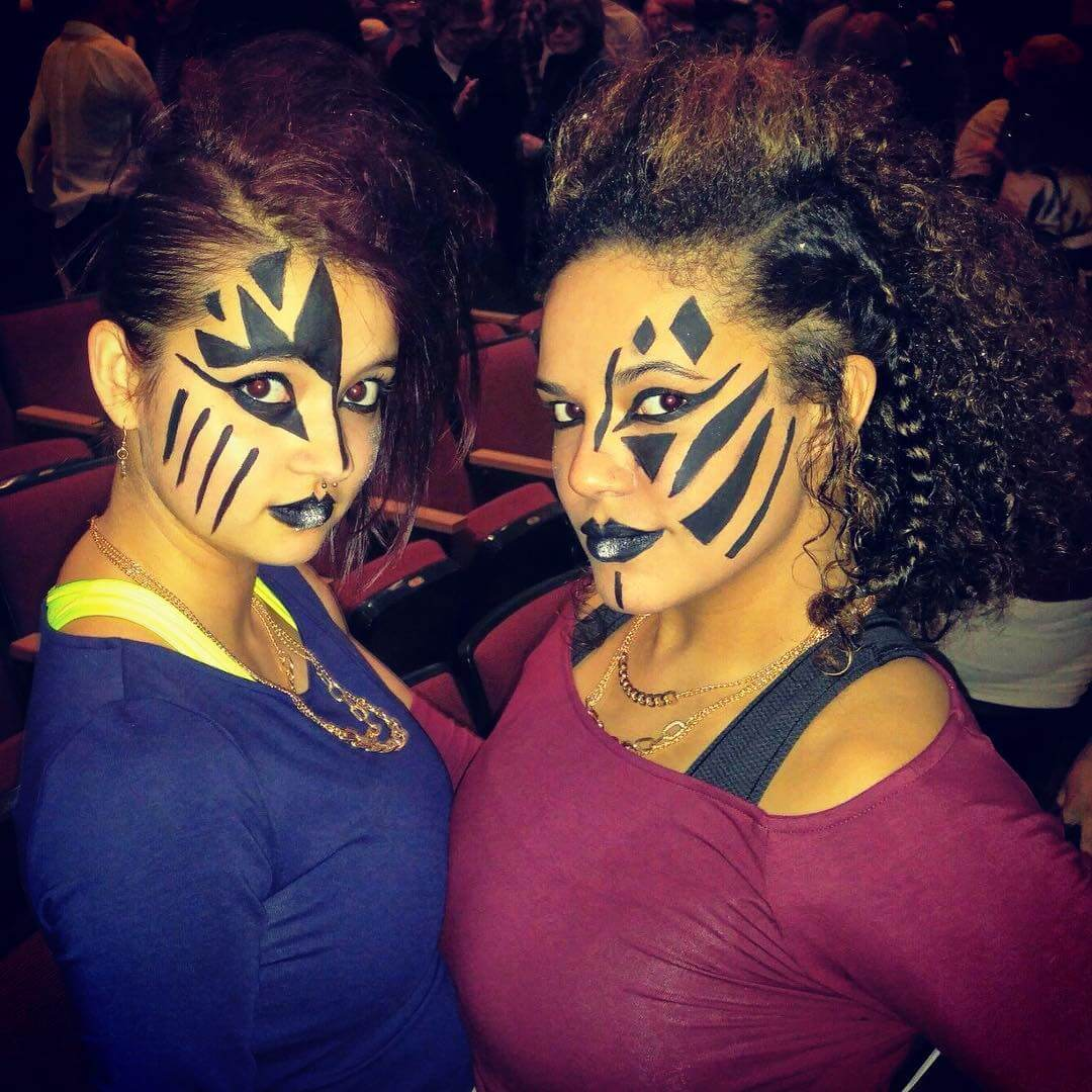 Tribal Black Makeup For Dance