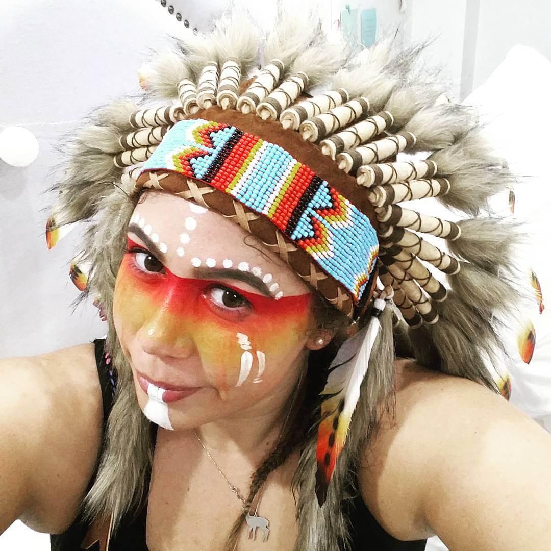 native zumba tribe makeup idea