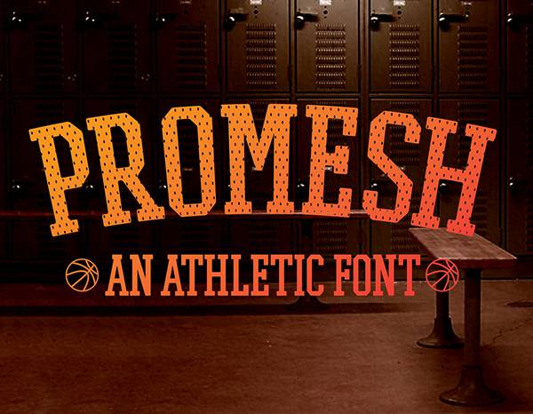 Jerseys athletic font for sports