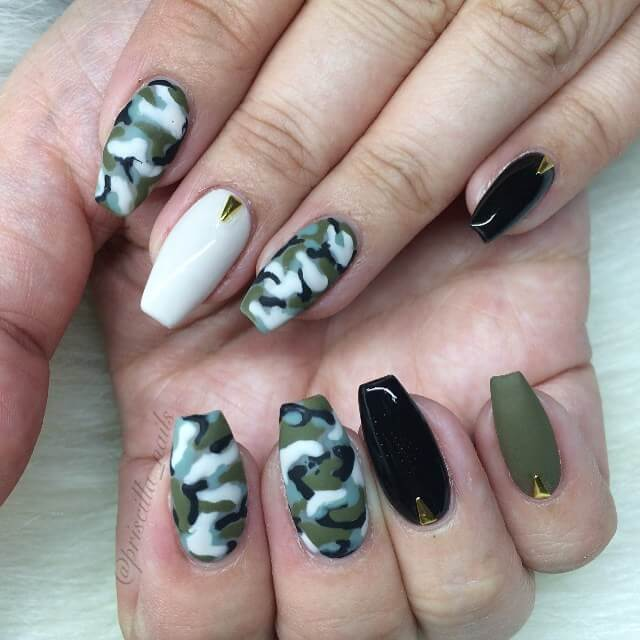 Camo Nail Art for Dope Nails