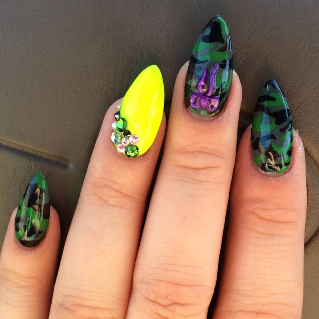 Awesome Camo Nail Design