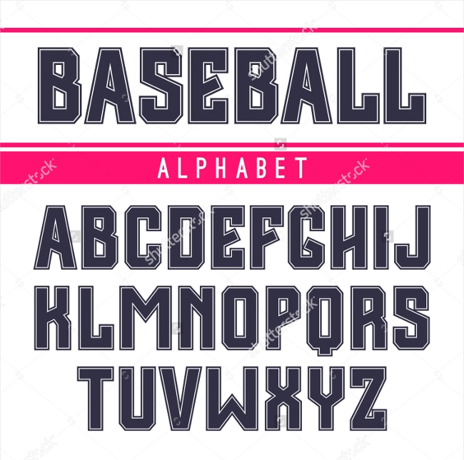Sanserif font in the sport style