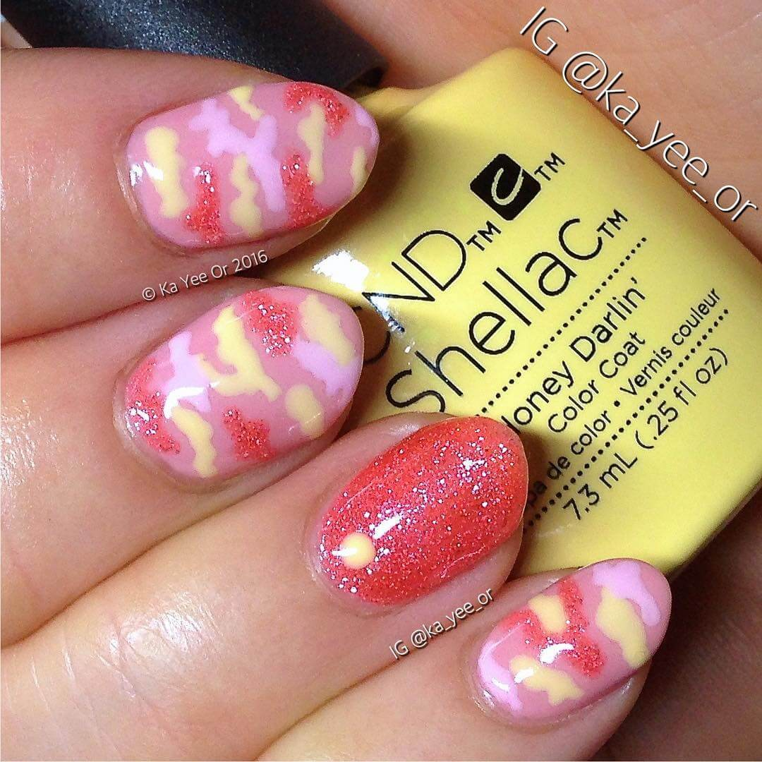 Gorgeous Camo Nail Design
