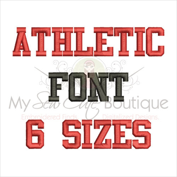 Athletic Block Embroidery Font