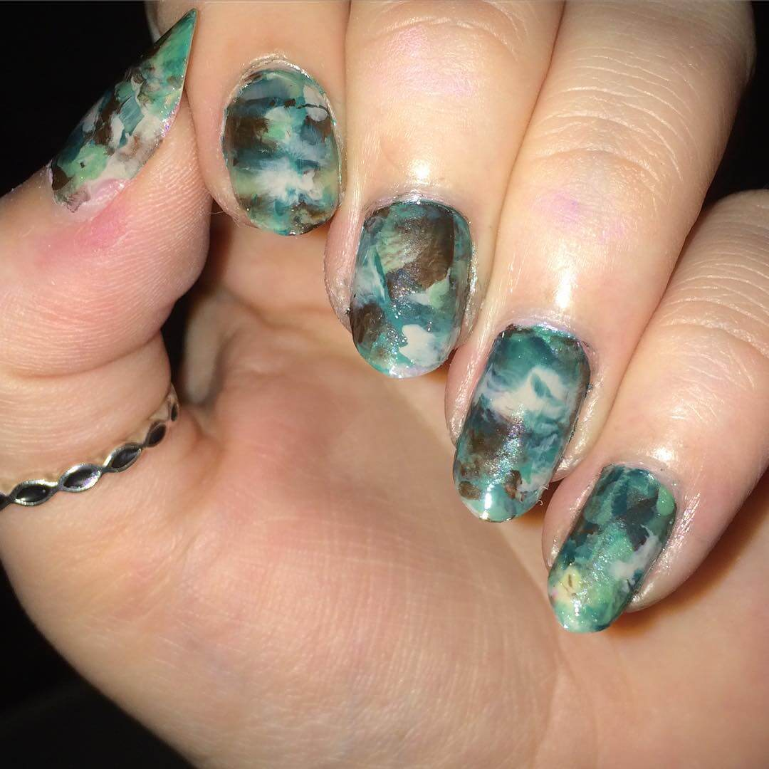 Polished Dream Camo Nail Art