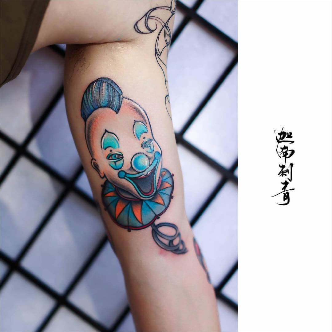 Cute Clown Tattoo