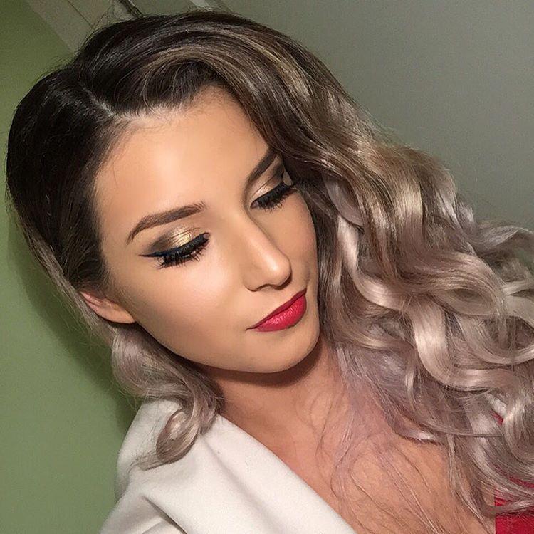 Bronze Eye Makeup Design For Celebrities