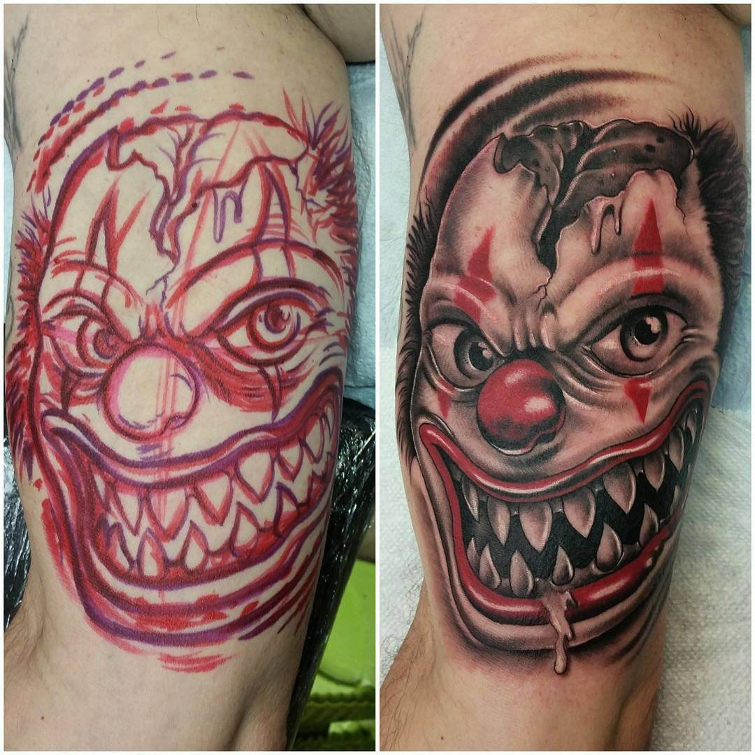 Scary Clown Tattoo