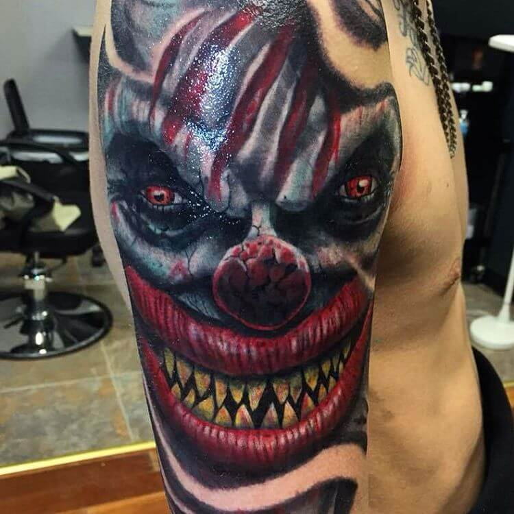 Evil Joker Tattoo