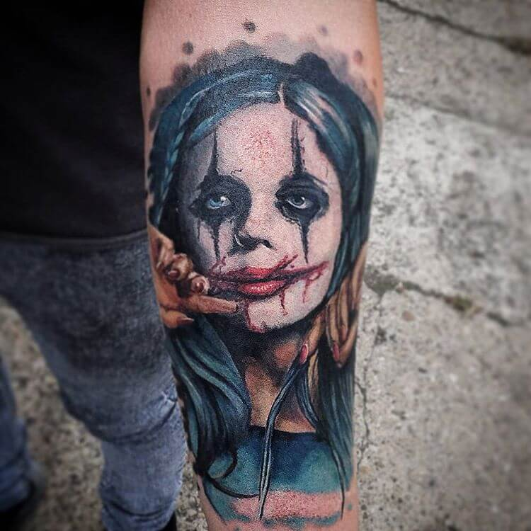 Tattoo Clown Face