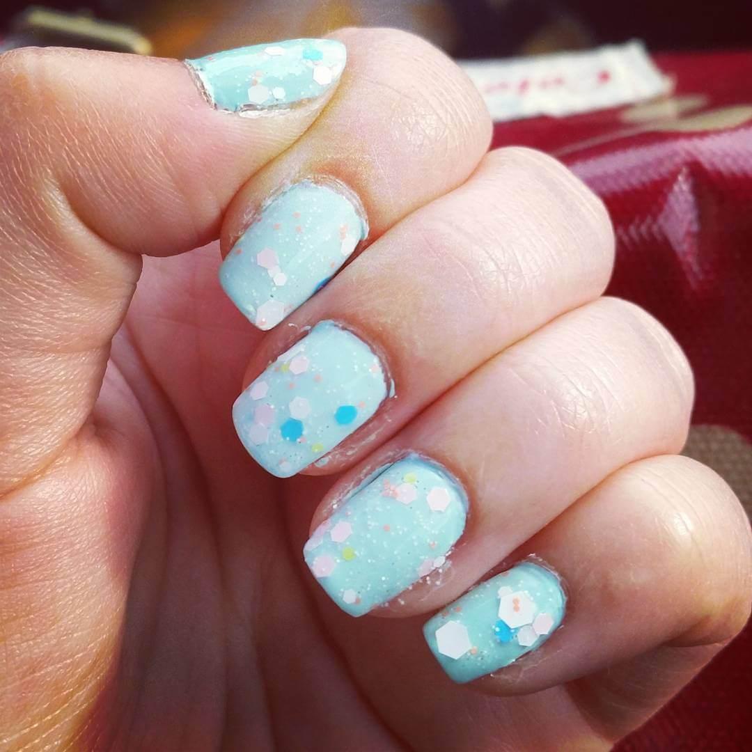 Light Blue Nail Art (1)
