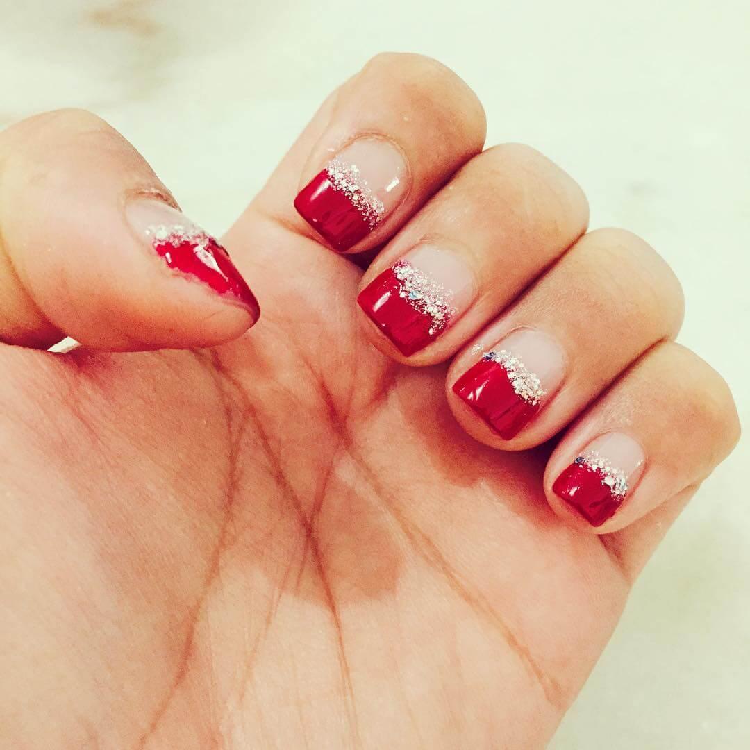 red tip diy nail art designs 1