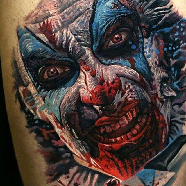Killer Clown Tattoo