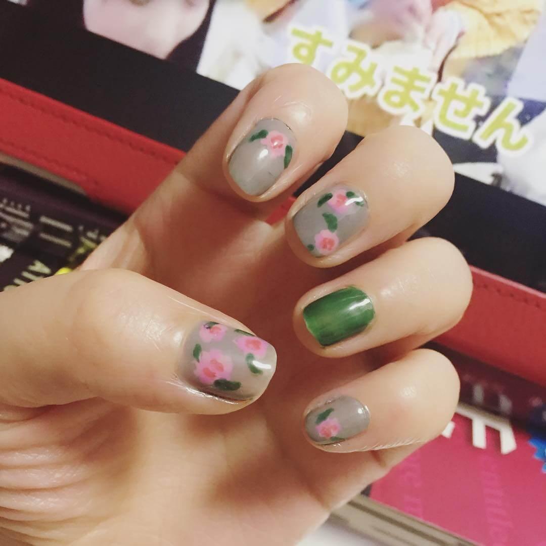 Amazing Green Diy Nail Art (1)