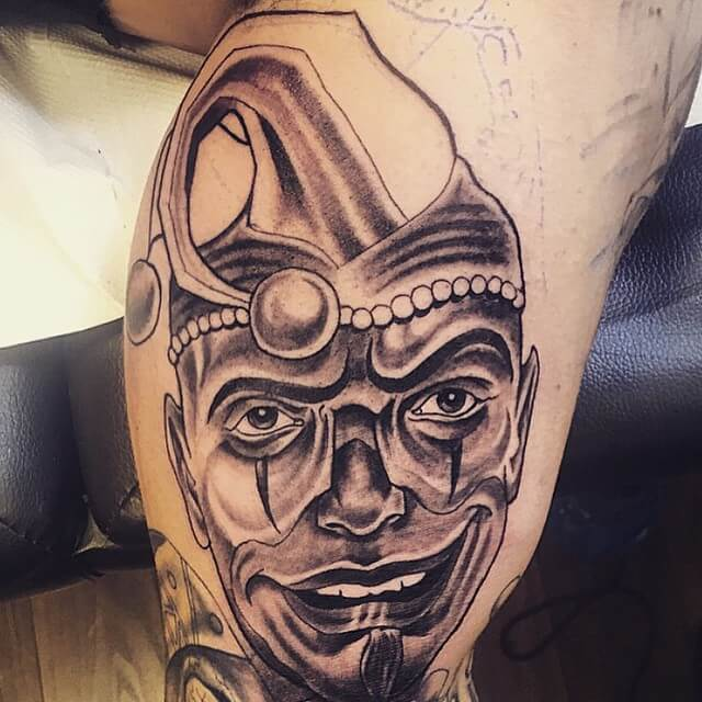 Tattoo Clown on Hand